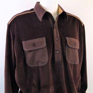Vintage Alan Stuart Mens Velour Shirt